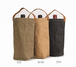 UASHMAMA Wine Bag Black